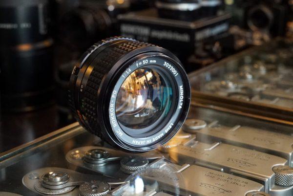 Minolta MC Rokkor-PG 50mm f/1.4, standard lens