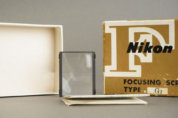 Nikon F / F2 focusing screen Type G2, in case, boxed