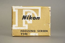Nikon F / F2 focusing screen Type J, in case, boxed