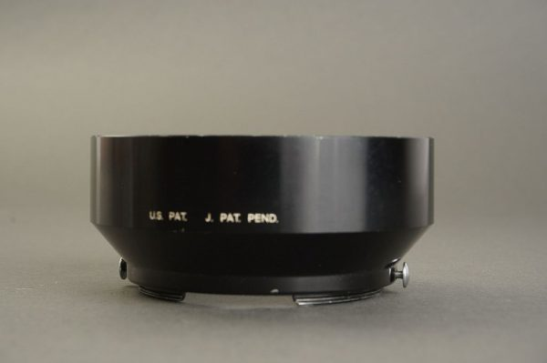 Nikon  F lens hood for the 1.4 / 5.8cm lens. Hard to find