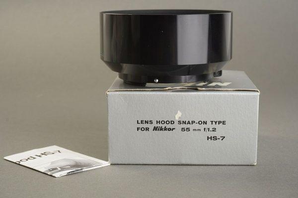 Nikon HS-7 lens hood for Nikkor 55mm f/1.2 lens, Boxed