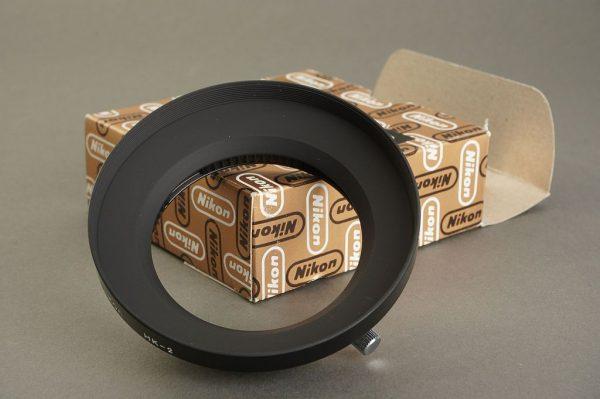 Nikon lens hood HK-2, Boxed. For Nikkor 24mm f/2