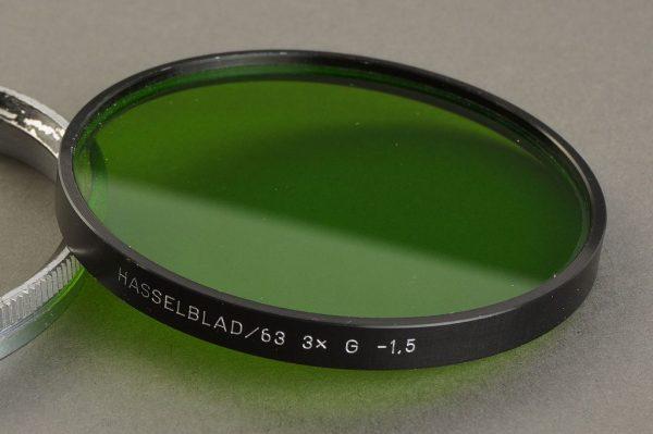 Hasselblad 63 filter, Green + retaining ring