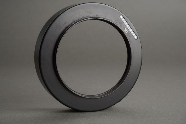Hasselblad lens hood for 50mm Distagon, 63mm screw in