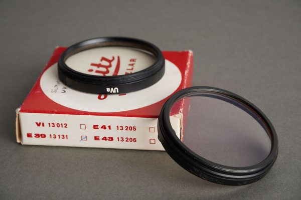 Leica Leitz filter 13131 E39 UV, black, boxed, also E39 B+W KR1.5 filter