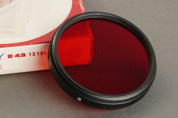 Leica E39 RED filter, Boxed (black version) 13116B, hard to findd!