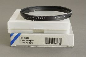 Hasselblad filter adapter bay 70 to 77mm screw. Genuine, BOXED, 41548