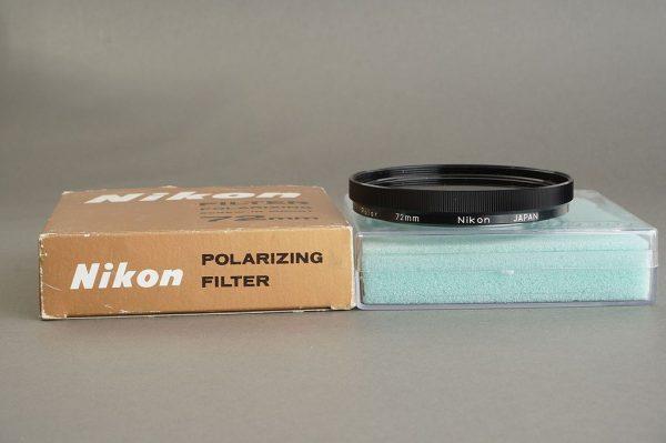 Nikon filter Polarizing 72mm screw in, In Box