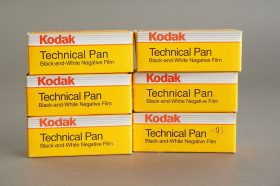 6 rolls of Kodak Technical Pan 120 film TP120, ISO25, expired 95/96/97