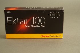 Kodak Ektar 100, 5x rolls of 120 film. Expired 11/2019