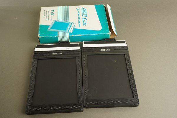 lot of 2x 4×5 sheet film holders, Fidelity Elite, Boxed
