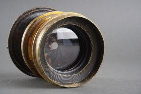 Taylor Taylor and Hobson brass lens, 8X5 Rapid Rectilinear RR eq focal lenght 9,02 inch (229m) f/8