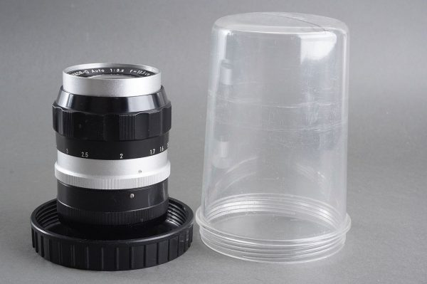 Nikon Nikkor-Q 1:3.5 / 135mm lens, in container, from collection