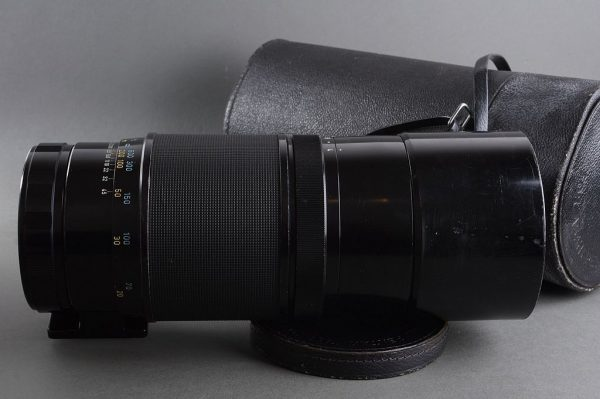 Pentax S-M-C Takumar 6×7 1:4 / 400mm lens in container