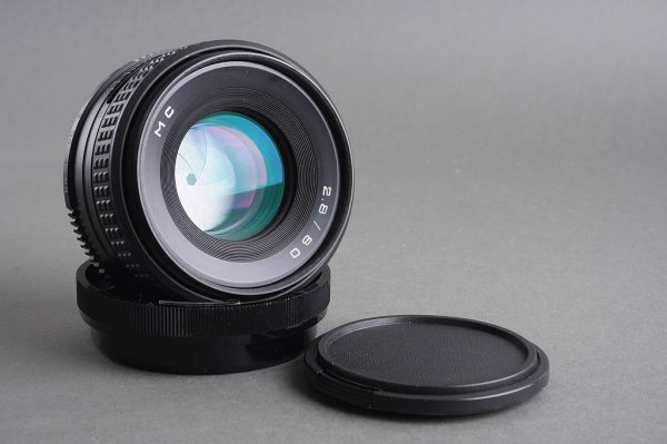 A Russian lens with Pentacon Six mount. Only marked 2.8 / 80 MC (probably Volna or Arsat?)
