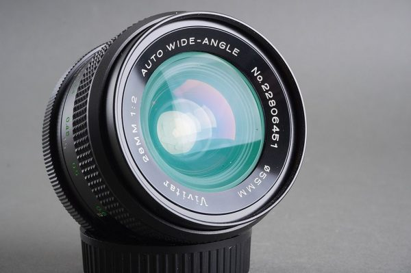 Minolta MD fit 1:2 / 28mm lens, by Vivitar