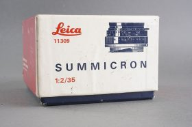 Leica Leitz Summicron 2 / 35mm box only, vintage item 1970s 11309