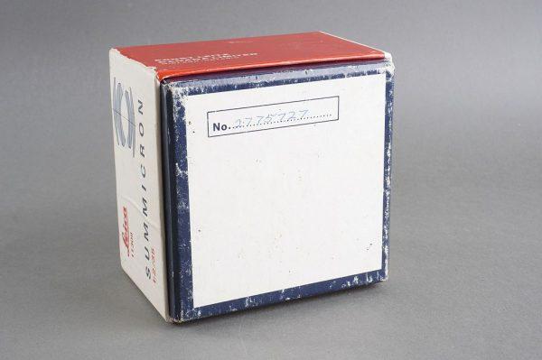 Leica Leitz Summicron 2 / 35mm box only, vintage item 1970s 11309