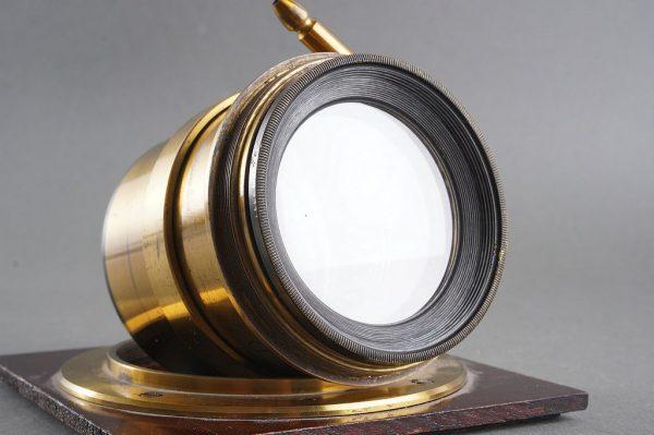 Brass lens by R.Morrison N.Y. Marked D, appr. 350mm f/8