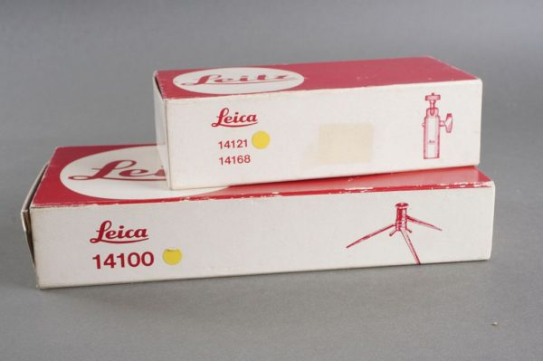 Leica table tripod + ball head 14100 + 14121, BOXED, later version with black knob)