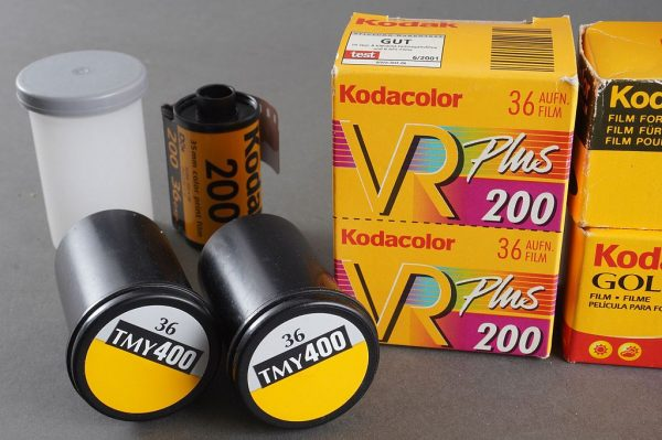 Lot of 10x expired KODAK 135 film. Various, some hard to find films. Expired