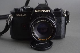 Chinon 1.9 / 50mm lens on Chinon CM-4 camera, Pentax PK mount