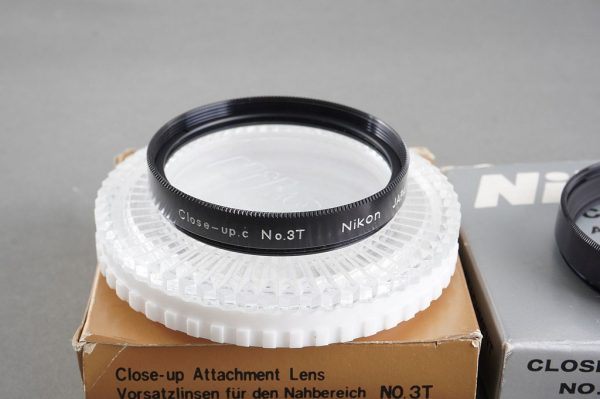 Nikon Close-up lens set: No.0, No.1, No.2, No.3T (all in case, two boxed