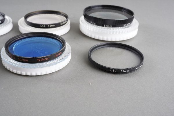 10x genuine NIKON filters. 52mm screw in, most in their case (including Polar)