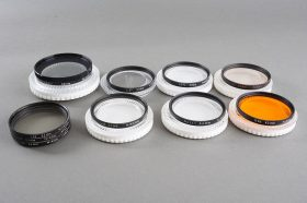 lot of 10x genuine NIKON filters. 52mm scrw in, some cased (including orange and polar)