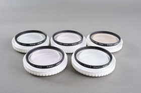 Lot of 5x NIKON 62mm filters in cases: A2, Soft, L37C, L1BC, L1BC