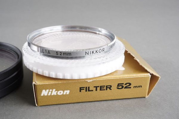 lot of 4x NIKON filter, 72mm screw in, L37C, Soft. 1x in case. Add-on boxed L1A 52mm filter 52mm