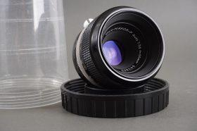 Nikon Micro-Nikkor 3.5 / 55mm len, non-AI, in plastic container
