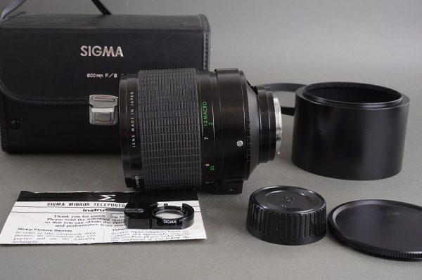 Sigma Mirror Telephoto 600mm 1:8 lens in Pentax PK mount