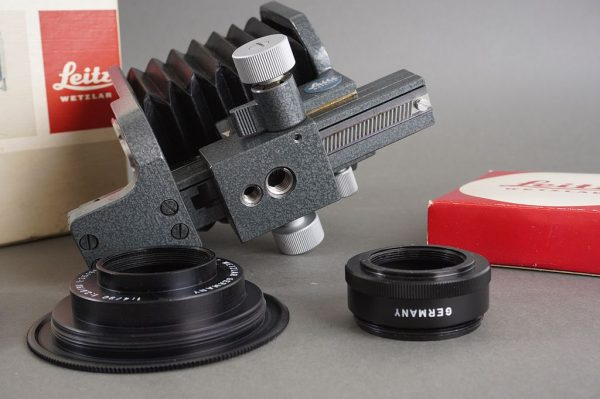 Leica Leitz 16556 bellows + 16558Z, 17672 and 16590N mounts, in box