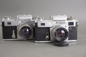 Kiev rangefinder camera with Jupiter-8 5cm 1:2 lens, Contax copy