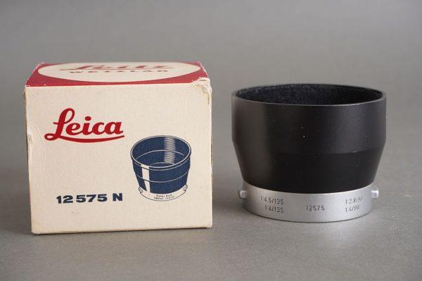 Leica Leitz IUFOO lens hood, Boxed, 12575 hood in 12575N box