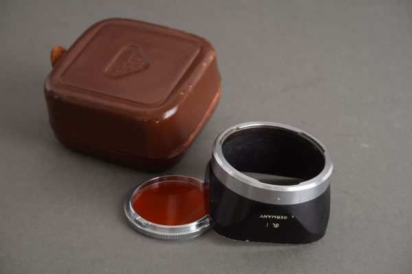 Rollei Rolleiflex bay I lens hood + ornage filter by Fodor, cased