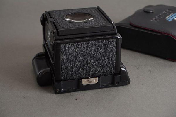 genuine Pentax waist level finder for 67 / 6×7 camera – in case