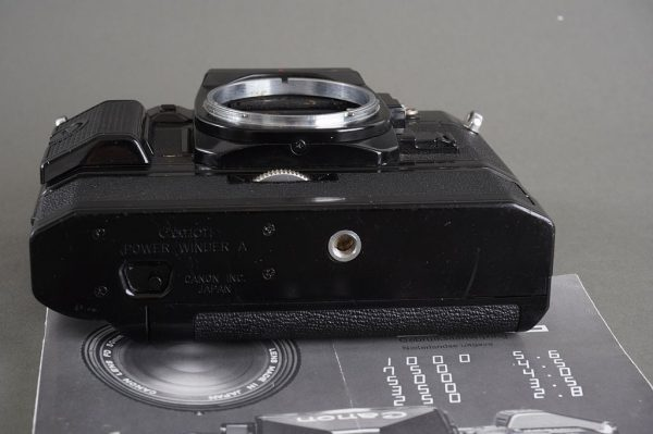 Canon A-1 camera with Power Winder A