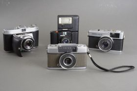 Olympus Pen-EE, Trip 35, Minox 35GL, Kodak Retina 1b – all with issues