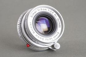 Leica Leitz Wetzlar 5cm 1:2.8 Elmar M mount lens, collapsible