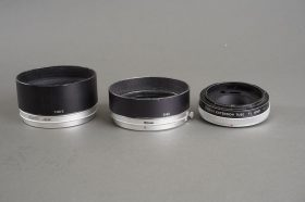 small lot of vintage Canon accs: T-60-2 and S-60 hoods + FL 15mm extension tube