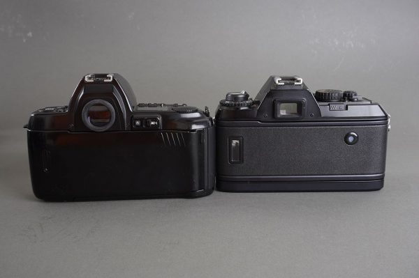 Lot of 2x Nikon AF cameras: F801s and F501, both with defects