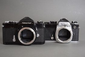 Nikon FE camera body – beaten one + Nikkormat FTN – just worn