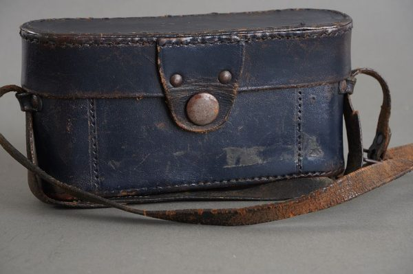 genuine and rare Leica blue leather everready case for IIIc camera