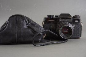 Leicaflex SL black camera with Summicron-R 50mm 1:2 lens