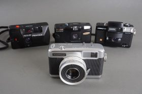 Lot of 4x various compact film cameras – defective