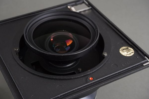 Schneider Kreuznach Super-Angulon 5.6/90 lens on Sinar DB board