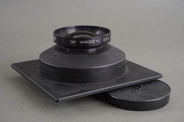 Sinar Sinaron-S 210mm 1:5.6 MC in Sinar DB board