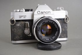 Canon FT QL camera + Canon lens FL 50mm 1:1.8